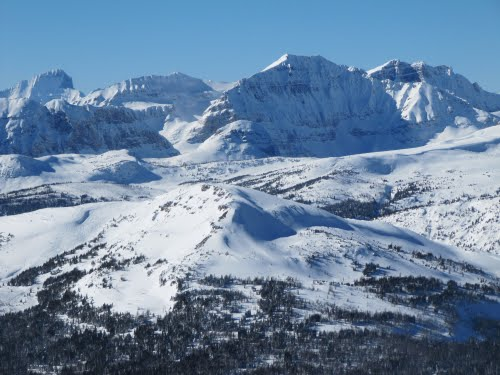 Lovely, Fabulous Mountain Views In Afternoon Sunshine From Goats Eye Mountain (2800m) In Sunshine Ski Area, Banff AB Feb '11
